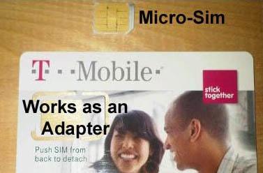 T-Mobile Micro Sim iPad